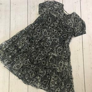 Diane von Furstenberg Silk Floral Ruffle Dress 10